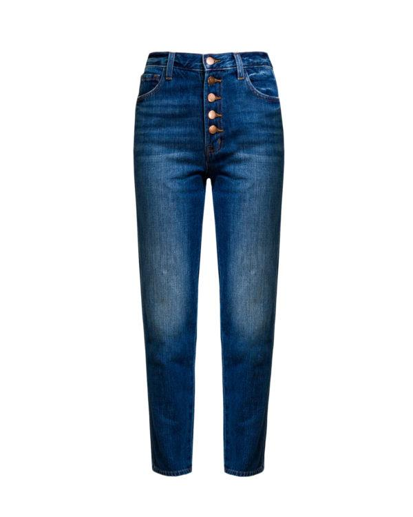 Jeansy J BRAND HEATHER HIGH RISE BUTTON FLY-wyprzedaż