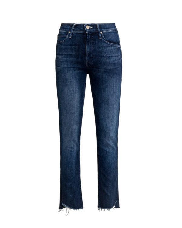 Jeansy MOTHER THE RASCAL ANKLE STEP FRAY SKINNY-wyprzedaż